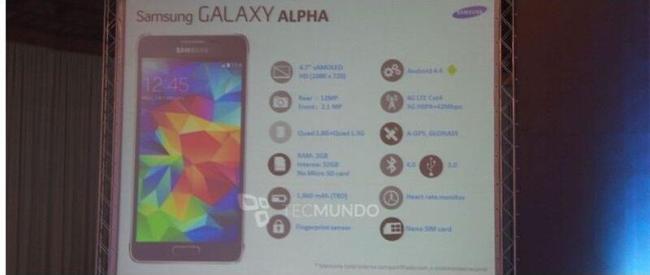 Samsung Galaxy Alpha Specs