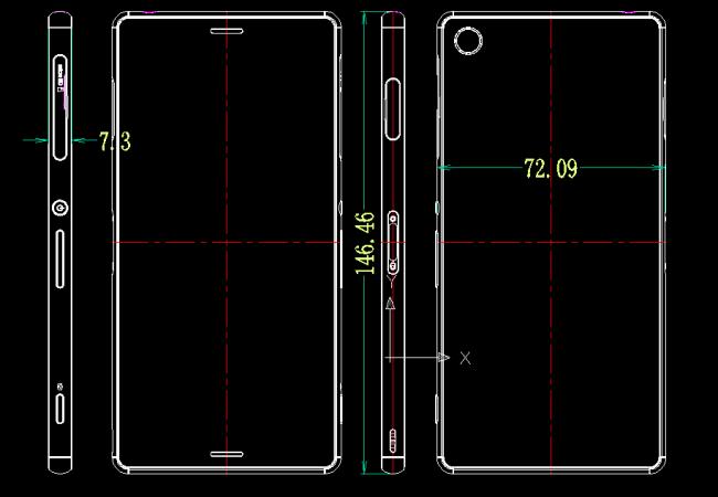 Sony Xperia Z3 Ausmaße