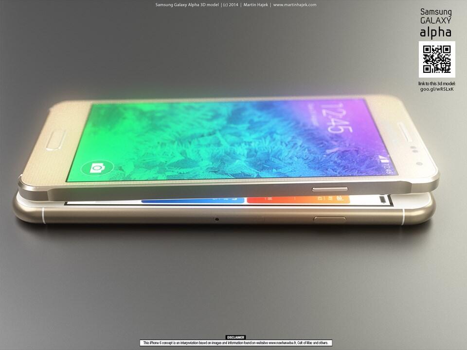 iPhone 6 vs Galaxy Alpha Konzept (1)