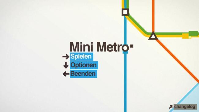 mini metro menü