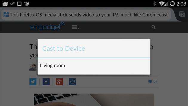 Firefox Android Chromecast