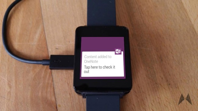 OneNote Android Wear
