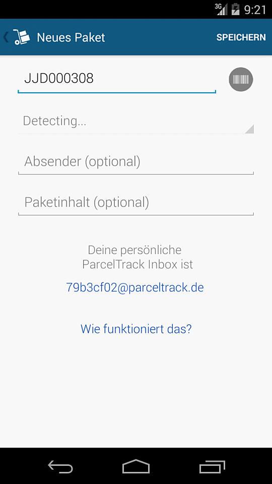 ParcelTrack Screen 6 - Eingabe_960