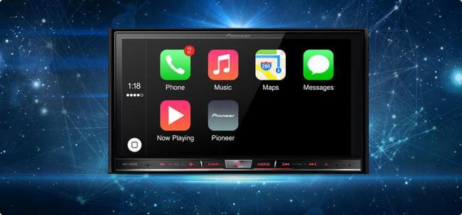 Pioneer CarPlay Apple Header
