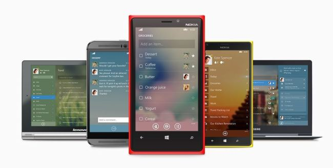 Wunderlist 3 Windows Phone Header