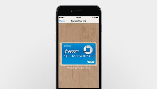 apple pay karte scan