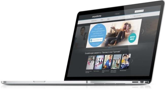 maxdome website