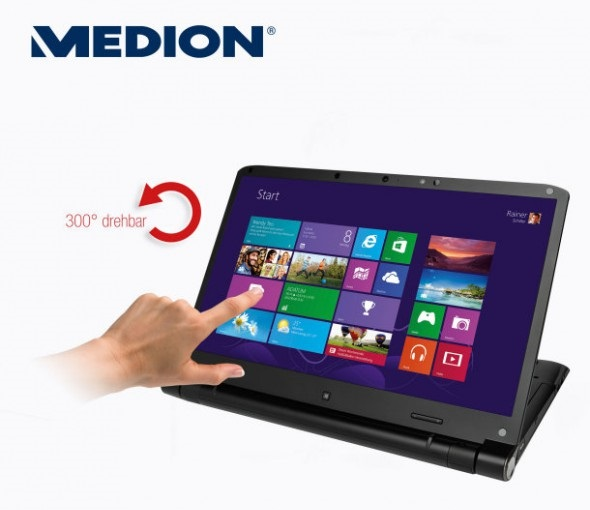 medion touch notebook