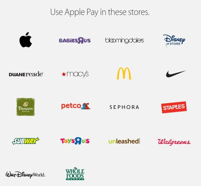 Apple Pay Geschäfte