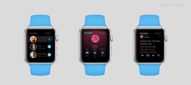 Apple Watch Konzept Apps Twitter