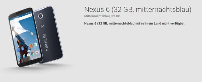 Nexus 6 Play Store