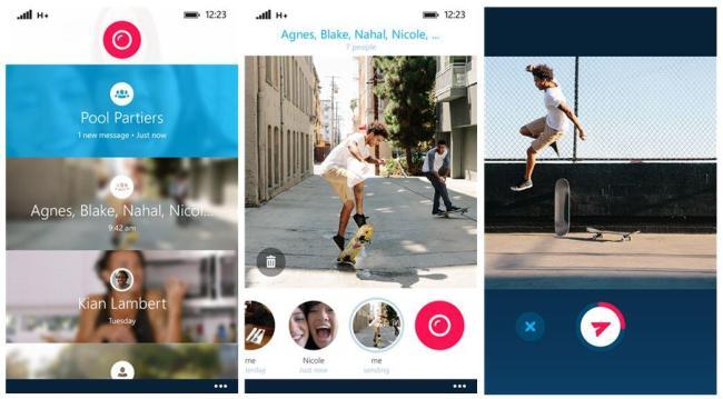 Skype Qik Screenshots