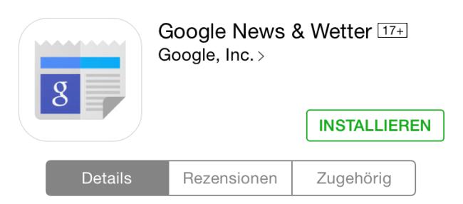 google news wetter ios