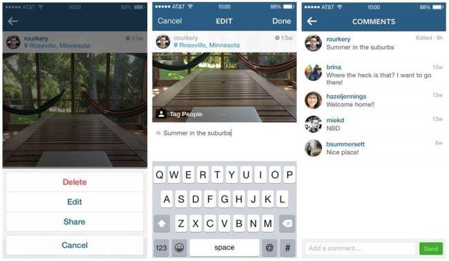 Instagram Update Screens
