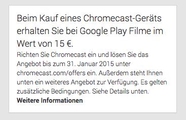 chromecast play gutschein