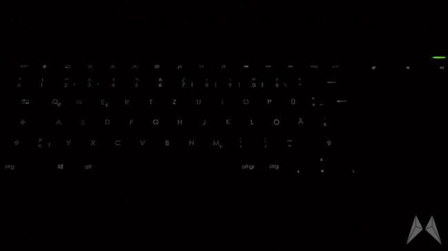 k830 beleuchtung dunkel