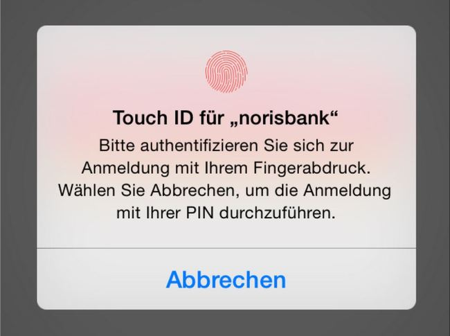 touch id norisbank