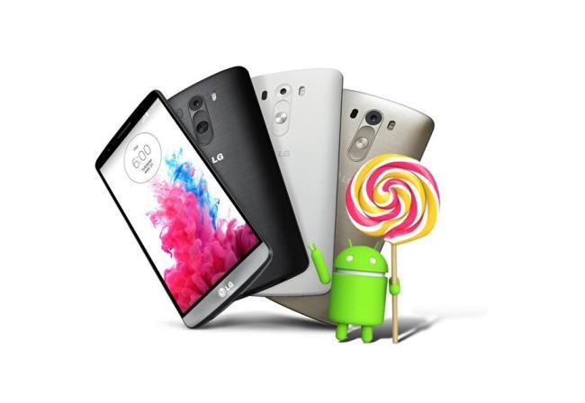 LG G3 Android Lollipop Header