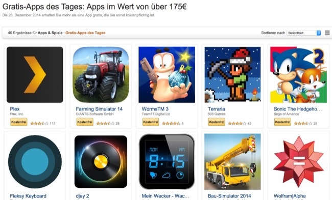 gratis apps xmas amazon android