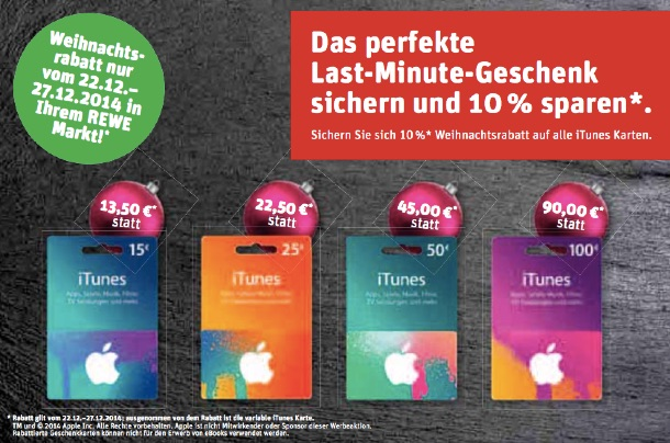 iTunes Rewe Aktion
