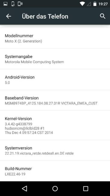 moto x 2014 update 5.0
