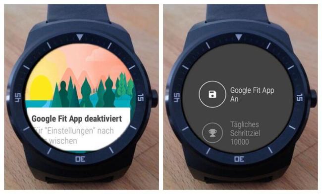 LG G Watch R FIT deaktiviert Screenshots