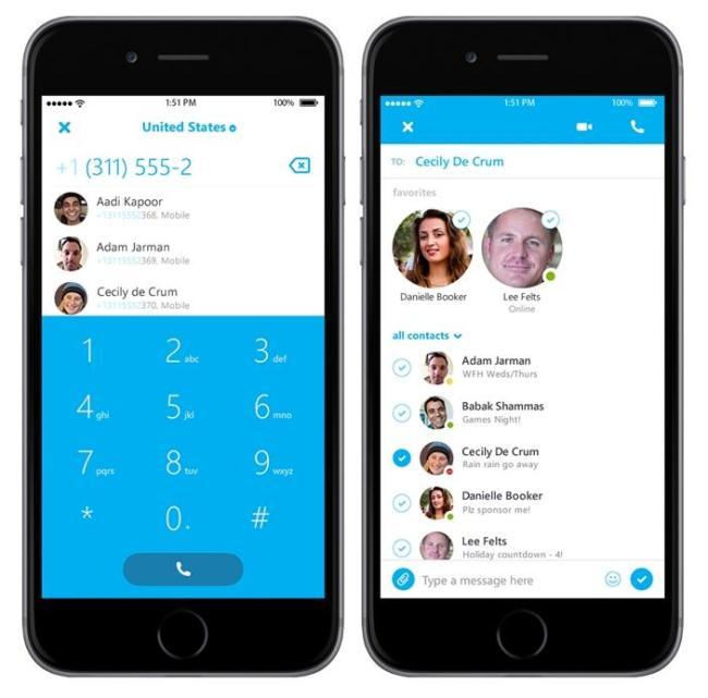 Skype iPhone Screens