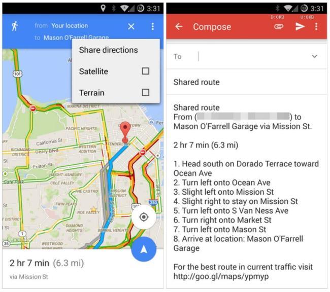 google maps routenbeschreibung teilen