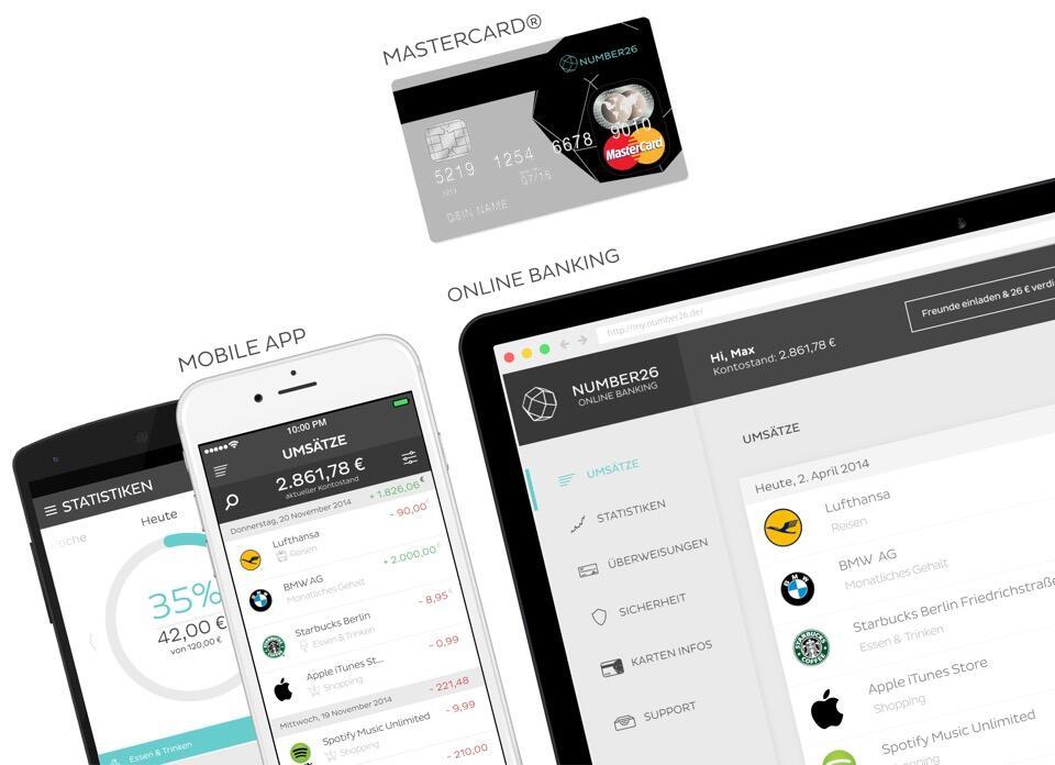 """NUMBER26: Das """"App-Girokonto"""" startet in Deutschland und Österreich"""