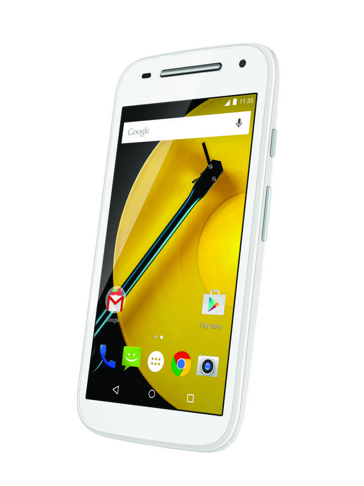 Moto E LTE (2nd Gen.) Front Dynamic - White