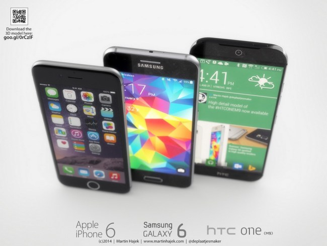 One M9 Galaxy S6 iPhone 6 (3)