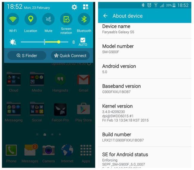 Samsung Galaxy S5 Lautlos Modus