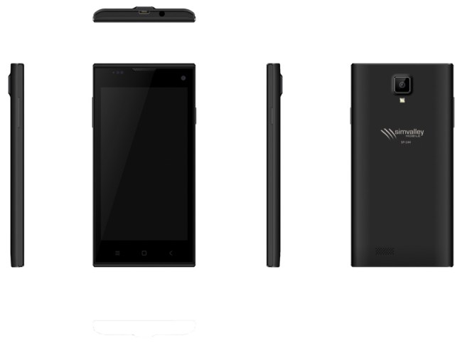 simvalley MOBILE Dual-SIM-Smartphone SP-144 QuadCore 4.5