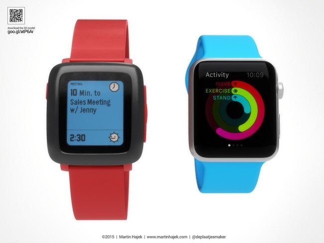 Pebble Time vs Apple Watch