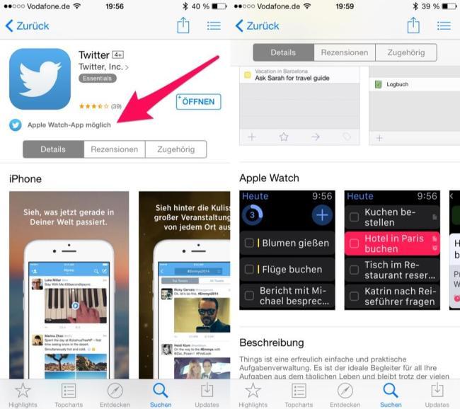apple watch app store update