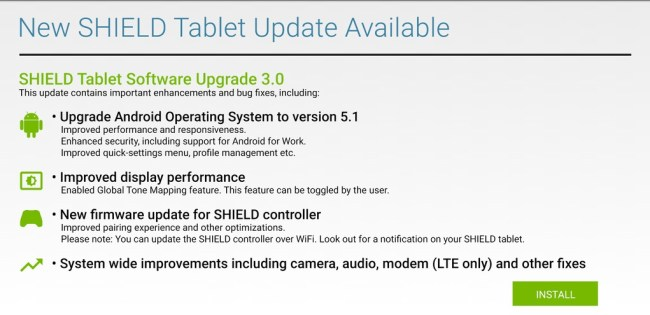 nvidia shield tablet 3.1