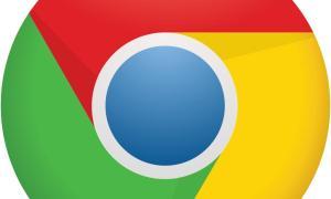 Chrome Logo Icon Header