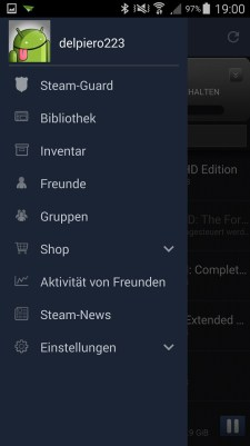 steam app menüleiste