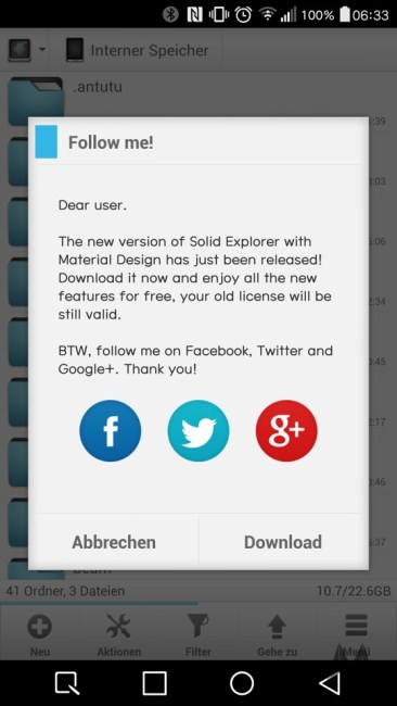 Solid Explorer Datei Manager