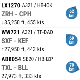 flightradar 24 android wear liste