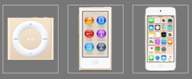 iPods 2015 Gold