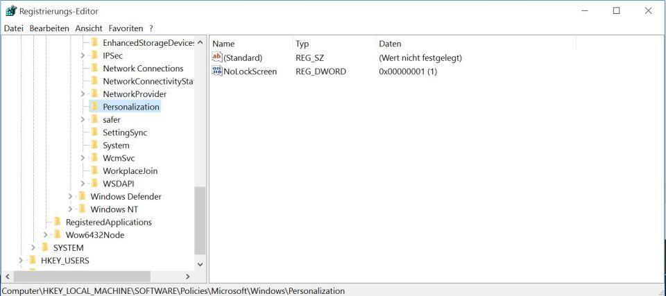 Windows 10: Ohne Lockscreen direkt zum Anmeldebildschirm