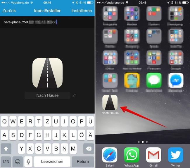 ios navigation homescreen icon