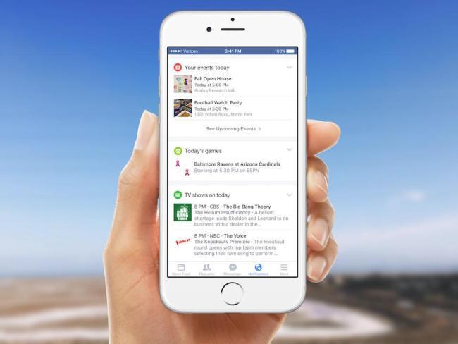 Facebook Benachrichtigungen Header