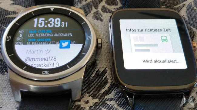 LG G Watch R und ASUS ZenWatch 2