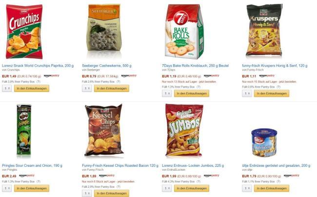 amazon pantry produkte