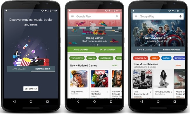 google play redesign 2015