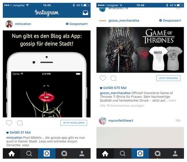 nstagram Werbung 3