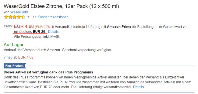 plus produkte 20 euro