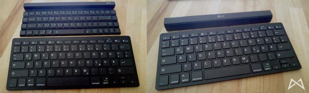 CSL und LG Rolly Bluetooth Keyboard